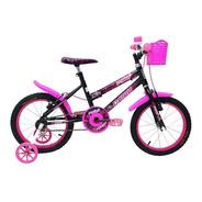 Bicicleta Cairu 16 Mtb Fem C-high Pto/pink