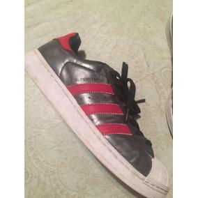 adidas Superstar Zapatillas Plateado Y Rojo