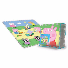 Peppa Pig Piso Goma 9 Placas Encastrables Original Disney