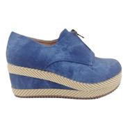 Zapato De Mujer Panchita Yh-7 Azul
