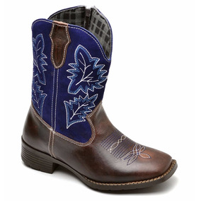 Bota Texana Infantil Masculina Country Rodeo 100% Couro