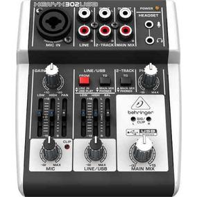 Mesa De Som Behringer Xenyx 302 Usb Mixer Interface De Áudio