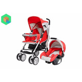 Baby Kits - Coche Para Bebe Travel System Cross - Rojo