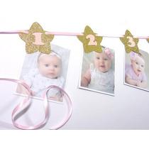 Guirnalda Fotos Cumpleaños Primer Año Añito Bebe Goma Eva