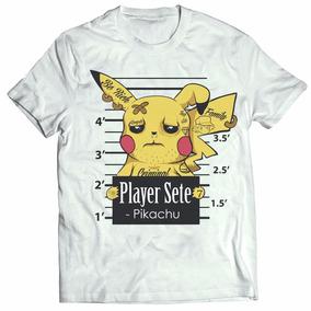 Camisa Camiseta Pokemon Go Pikachu Pokédex Game Desenho Top