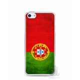Capa Capinha Case Iphone 5c Bandeira De Portugal