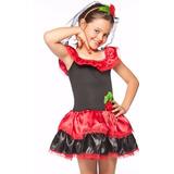 Fantasia Para Bebê 2 Anos Vestido Espanhola Roupa Carnaval
