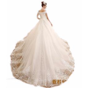 Vl05 Vestido De Noiva Lindo Princesa Cauda Importado Renda