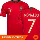 43c39b280f Camisa Portugal Nike Titular Home 2018 Original Nº7 Ronaldo