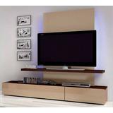 Mueble Tv Centro De Entretenimiento Con Luces Led