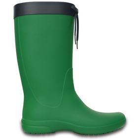 Crocs Originales Crocs Freesail Rain Boot Verde Mujer 31o