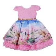 Vestido Masha Urso Festa Infantil Luxo