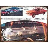 Cartel Chapa Publicidad Antigua Torino 1971 Renault L240