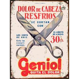 Cartel De Chapa Vintage Publicidad Antigua Geniol M624