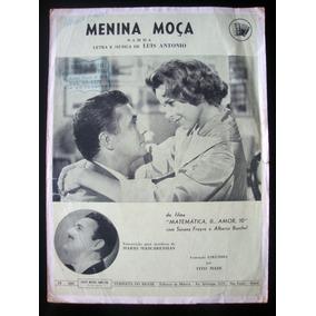 Partitura Antiga Música Menina Moça- Samba Acordeon