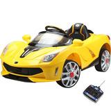Mini Carro Elétrico Ferrari 2 Baterias Mp3 Amarelo 926800
