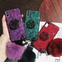Red [with stand with rhinestones + fur ball short rope]]-Xiaomi Play