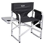 Elegante Silla Plegable Aluminio Acampar Director Chair Negr