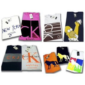 Kit 10 Camisetas Masculinas Blusas Atacado Marcas Famosas