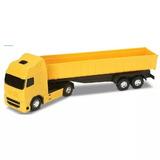 Caminhão Brinquedo Caçamba Tombeira Basculante 42 Cm Bitrem