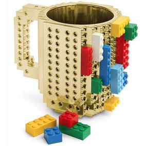 Taza Dorada Build-on Diseño Bloks De Construccion Lego H1282