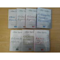 Kit 7 Livros Obras Basicas / Tamanho Grande / Allan Kardec