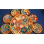 Set De 7 Platos Decorativos De Ceramica Para Pared Impecable