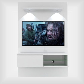 Rack Home Painel Suspenso 1,20 M P/ Tv 50 Pol Lumia Branco