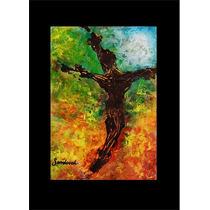 Pintura Para Cuadro En Acrílico Abstracto Cruz Cristo