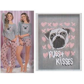 Pijama De Pugs Short Y Pantalón