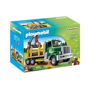 Playmobil 9115 Camion Recolector Madera Troncos Asseradero