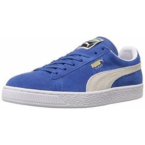Tenis Puma Clásico Suede Azul-blanco 7 Us