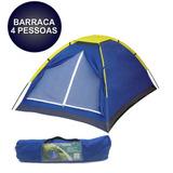 Barraca Camping Tenda 4 Pessoas Para Acampamento E Praia