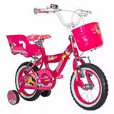 Bicicleta Niña Lahsen Minnie Aro 12 Fucsia 2-4 Años By11201f