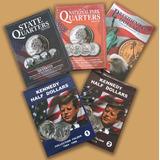 3 Album Coleccionadores Para Monedas De Usa 25 Centavos 50
