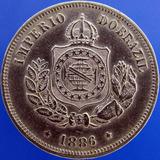 Moeda 50 Réis 1886 - Império Do Brazil - Fundo Linhado