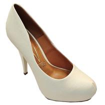 Sapato Scarpin Vizzano Branco 1143.309 - Maico Shoes