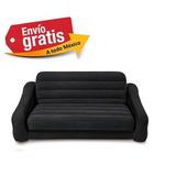 Sofa Cama Queen Matrimonial Inflable Intex Negro Cómodo Nuev