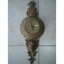 Antiguo Reloj De Pared De Bronce Macizo