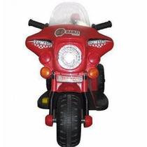 Mini Moto Eletrica Infantil Triciclo Policia A Bateria