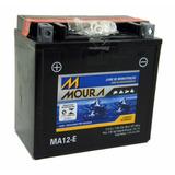 Bateria 12ah Ma12-e Quadriciclo Honda Trx 420 Fourtrax Moura
