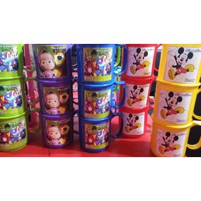 Tazas Personalizadas Souvenirs Plásticas Pack X 10 Unidades
