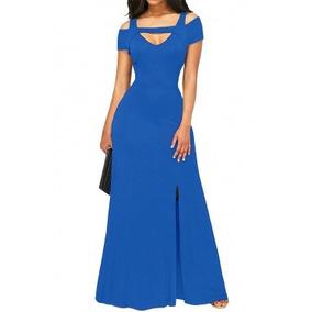 Vestido Fiesta Largo Azul Ropa Dama Envío Gratis