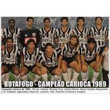 Poster Do Botafogo - Campeão Carioca 1989