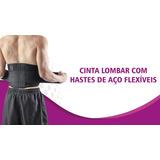 Cinta Faixa Coluna Lombar C/ Hastes Aço Flexível 120cm