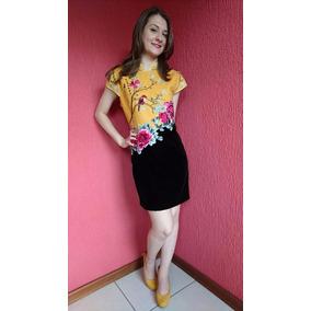 Vestido Importado Modelo Chinês Bordado