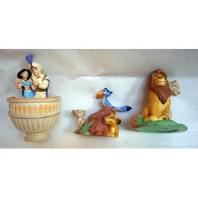El Rey León / Aladdin Disney 3 Figuras De Colección (goma)