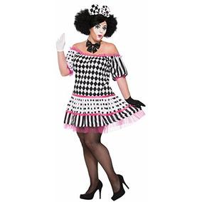 Forum Mujeres Arlequín Clown Tiers Vestido Traje, Como Se M