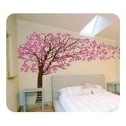 Adesivo De Parede Para Sala Arvores Flores Cerejeira Sakura
