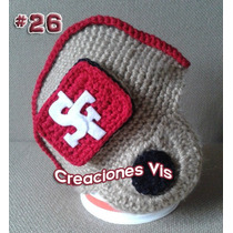 Gorro Casco San Francisco 49ers Nfl Tejido Crochet Equipos